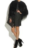New Arrive Fashion Designer Genuine Goat Fur Coat Shawl Cape Fur Womens Fur Outwear Fur Garment Free Shipping Retail/Wholesale