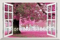 Purple Tree of Life  window sticker 120*80cm sofa background  pvc  art  art mural home decor Removable wall sticker  fj-17