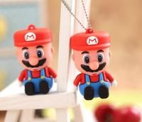 10pcs/lot 100% Real 2GB 4GB 8GB  Rubber Cartoon  Super Mario USB 2.0 Flash Memory Stick Pen Drive Thumbdrive U Disk Gift