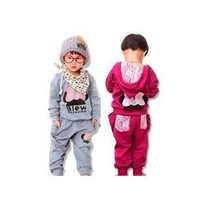 Baby clothing sets,girl leisure suit,Children fashion suit,kids wear The butterfly bud silk sets 4sets/lot