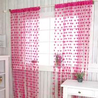 Free Shipping 100cmX200cm Jacquard Love Heart String Curtain Window Curtain door curtain Wedding Drapery CT-02S Wholesale&Retail