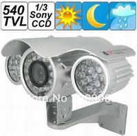 80m IR View Distance 540TVL 1/3 Sony CCD 8mm Lens Waterproof Camera