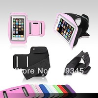 portable fashion sports armband running bag mobile phone arm sleeve protective case pouch for iphone5