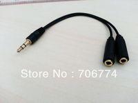 Promotion 3.5mm Earphone Headphone Splitter Cable Audio Adapter Jack 20pcs/lot