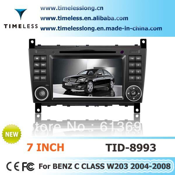 Mercedes Benz C-Class W203 car dvd player with DVD/BT/TV/FM/IPOD/RDS/CDC/GPS/ 3G+Free Shipping!+Free Map!(China (Mainland))