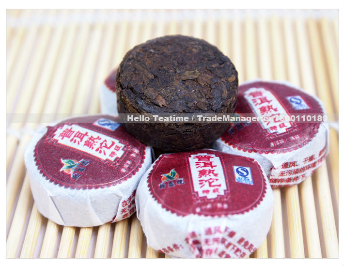 Free shipping!!premium Mini Yunnan Pu er(Pu'erh,puer) bowl compressed tuo ripe tea,weight loss,health care,gift bags(China (Mainland))