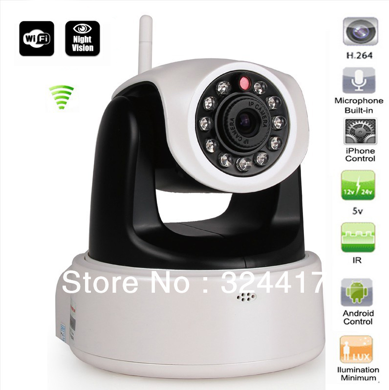IP Camera 1.0MP HD 720p Audio Wifi Wireless IP Network Camera H.264 IR Cut Night Vision(China (Mainland))