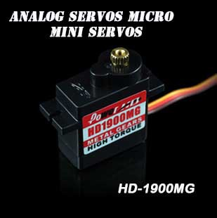 PowerHD 13g/1.5kg-cm 0.08 sec Metal Gear Micro Servo HD-1900MG Power HD(China (Mainland))