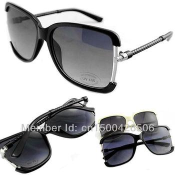 Free Shipping! 2014 Fashion New Pop Goggles Unisex Summer Shade Retro Metal Glasses UV400 Sunglasses 120-0022-1