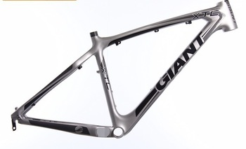 Original Giant XTC 26er carbon fiber mountain bicycle mtb bike frame silver/gray/black 14.5/16/18/20/22inch
