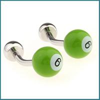 2013 Men's Fashion Jewelry Billiards Design Cufflinks in Green Color