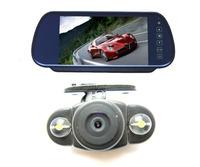 """Free shipping!!New 7"""" Car LCD Monitor RV701 +LED night vision rear view reversing car camera kit"""