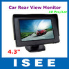 "10 Pcs/Lot 4.3"" New Digital Screen LCD Car Rear View Color Camera Monitor 2 Video Input Portable Car Monitor Free Shipping"