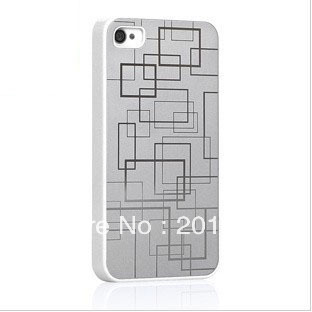 Free shipping+Wholesale price+Aluminum hard phone case for iphone 4 cases cover 3d bling protruded carving+Retail package(China (Mainland))