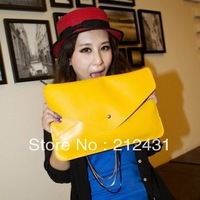 2013 women's handbag candy color envelope bag shoulder bag briefcase messenger bag