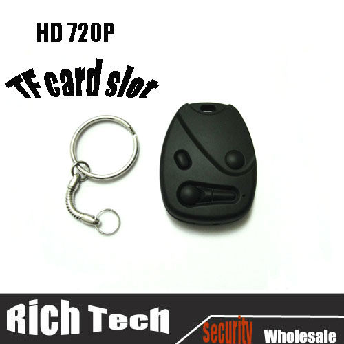 Wholesale HD 720P camcorder car key,High definition digital keychain mini video DVR with retail box(808B)+10pcs/lot(China (Mainland))