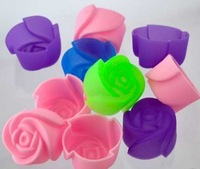 Free Shipping DIY 3cm Roses Silicone Cake Mold /  Silicone handmade tool soap mold / baking mould bakeware 10pcs/lot