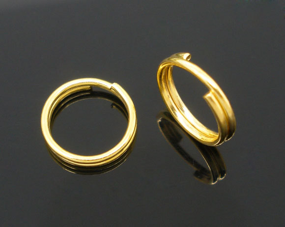 400 Gold Plated Double Loop Split Open Jump Rings 8mm(China (Mainland))