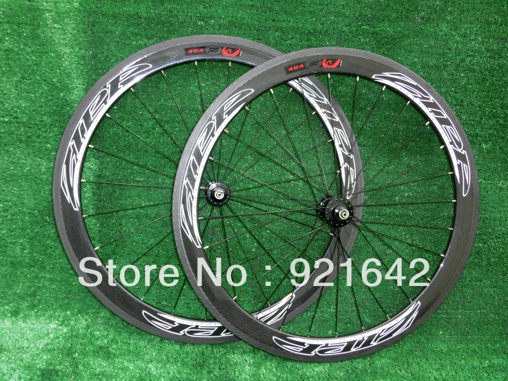 Hot Sale & Free shipping, NEW STORE OPENING!!! ZIPP404 carbon fibre clincher 50mm, 3k, 700c, glossy road bike Wheelset(China (Mainland))