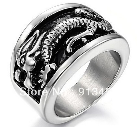 Fashion Jewelry Rings Noble Dragon Rings Man Vintage Ring Exaggerated Jewelry USA ePacket Free Shipping Whole Sale RS207(China (Mainland))