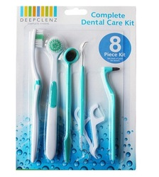 8 Piece Oral clean tools Dental Care Tooth Brush oral hygiene Oral care dental hygiene Kit free shipping(China (Mainland))