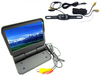 "Free Shipping!!HD 4.3"" TFT LCD Backup Screen Car Rear View Reverse Monitor+ IR Car Camera Kit"