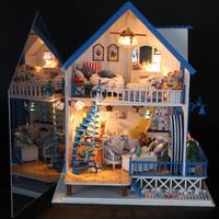 Diy love sea ultimate version boys and girls toy diy wood dollhouse