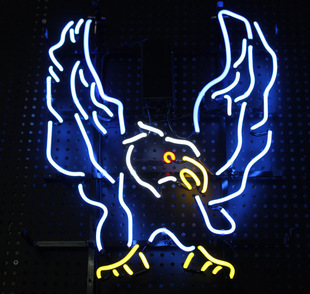 Blue Eagle Mirs wings Bar artistic neon lighting signs fashion decorative can add your words 50*40cm