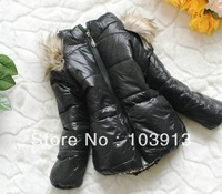 Free Shipping (3 colors) 9pcs/lot Baby Winter Coats for age 0-4 years Kids Warm Jackets Children Outwears