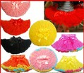 Retail 1 pcs New  Solid color  Girl pettiskirt  White Black Red  Rose yellow  tutu skirts Free shipping