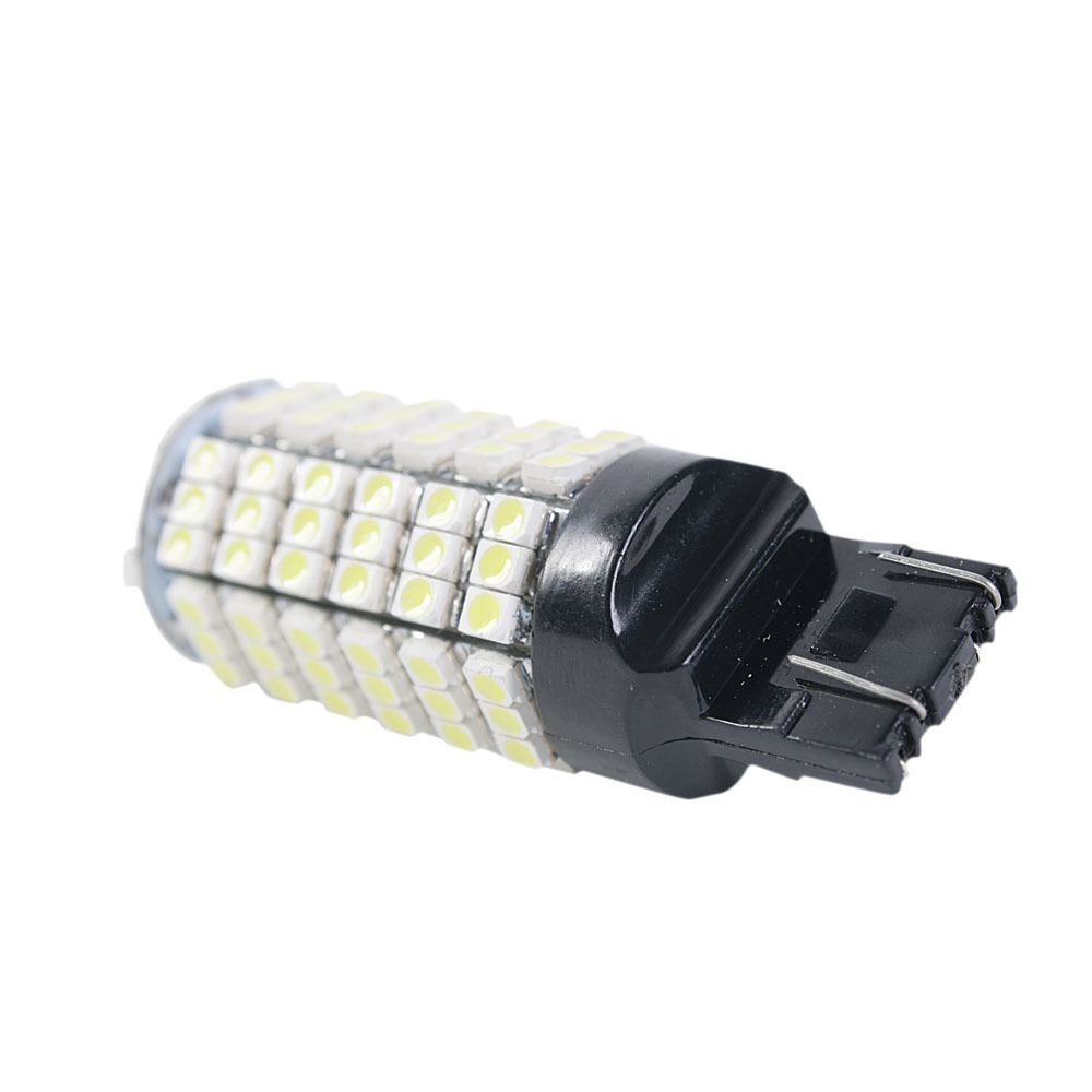 Best quality DC 12V T20 7443 120 LED 3528 smd brake/Turn signal /tail light white lamps replace car bulb 10pcs per lot(China (Mainland))