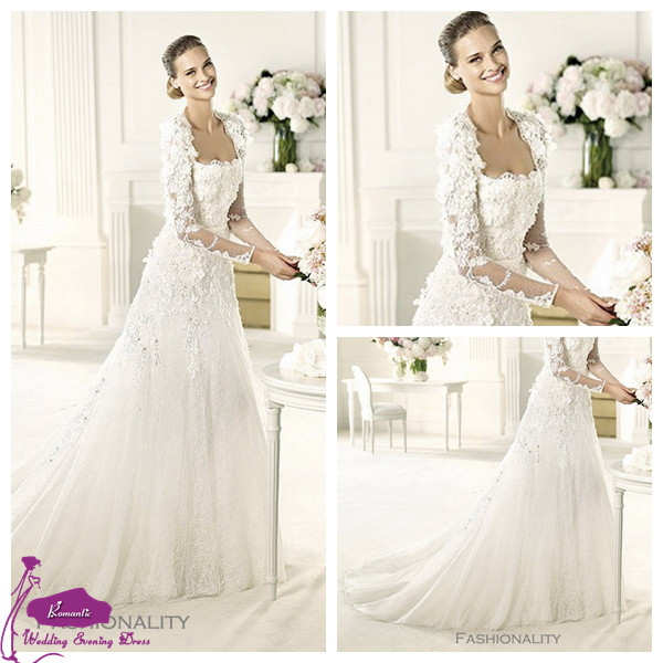 ew 4 2013 New Style Long Train Elegant Lace Top Elie Saab Wedding Dresses(China (Mainland))