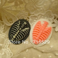 Resin skeleton cameo cabochons for DIY Jewelry/Necklace Pendant/Phone Decoration by 100pcs/lot