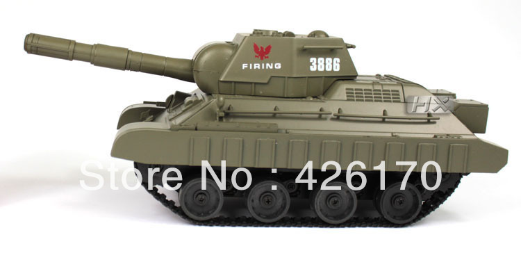 Free Shipping 3.5ch 9.84Inch RC Tank Spin Shoot And Turn Around Army Vehicle 3886A(China (Mainland))