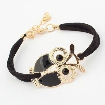 Min.order is $10 (mix order) 61A42 Fashion  Lovers vintage owl bracelets jewelry wholesale free shipping---Crystal shop