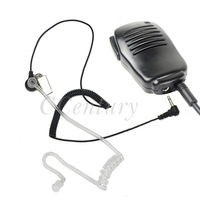 3.5mm Plug Listen Only Air Tube Earpiece for BAOFENG WOUXUN Kenwood Two Way Portable CB Radio Walkie Talkie Speaker Microphone