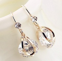 Free shipping,wholesale Tears zircon earrings,high quality earrings,fashion jewelry,wholesale jewelry,antiallergic,Factory price