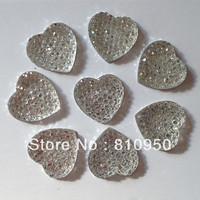 Freee Shipping White color 1000pcs Jewelry Garment / Phone Case Accessories  8mm Heart Resin Rhinestones,Flatback Rhinestones