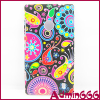 New Colorful Flower/Jelly Fish Hard Rubber Case Cover Skin For Nokia Lumia 520