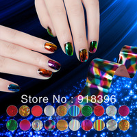 Free shipping 20rolls/lot The latest 2013 fashion colors Nail Art Transfer Foils Adhesive Nail Art Sticker Tips Decoration