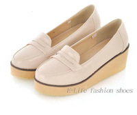 big size 34-43 Free Shipping 2013 new sexy flat shoes for women, ladies creepers platform shoes #Y9056F