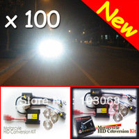 H1 H6 H7 6000K 35W Motorcycle Bike HID Hi/Low Beam Kit Xenon Conversion Kit + Slim Ballast