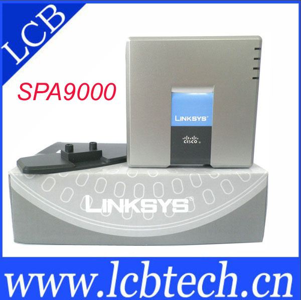 WholeSale 50pcs/lot Unlocked Linksys SPA9000 iP PBX Phone VOIP Phone adapter System V2 support 16 users with DHL(China (Mainland))