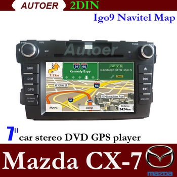 In dash 2 Din Car DVD radio Car PC for Mazda CX 7 7inch touch screen DVD with GPS Bluetooth