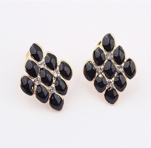 Min order $15 can mixed order]Lady's vantage sweet earring square earring for wholesale latest jewelry(China (Mainland))