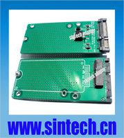 7+17pin mini SATA to 2.5/3.5-inch 22pin SATA Adapter converter Card for Apple 2012 MACBOOK PRO Retina A1398 MC975 MC976 ssd
