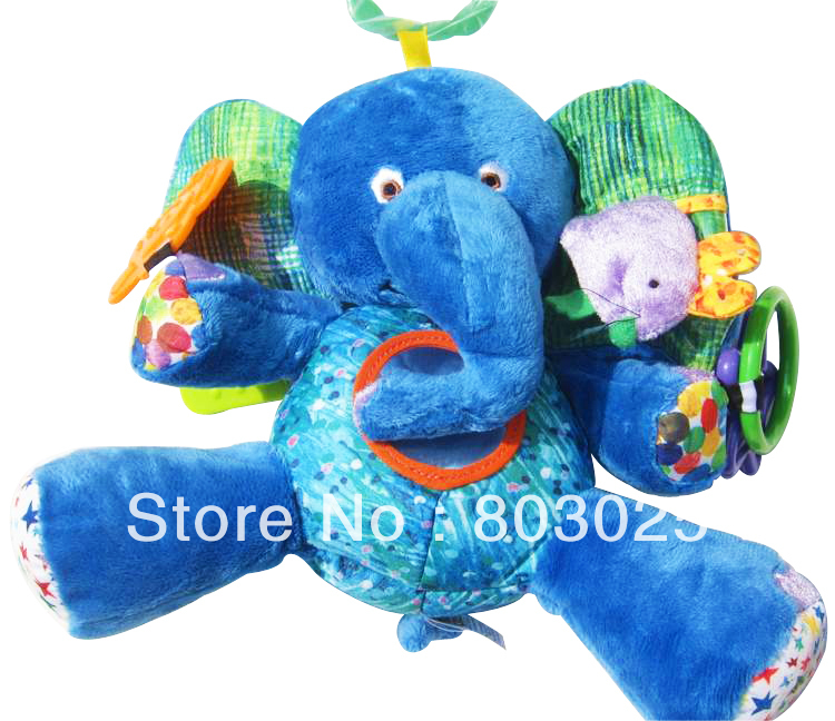 Free Shipping Eric Carle&#39;s Elephant Rattle, Baby Soft Placate Puppet Toy , Novelty Cuddlesome Doll Toy(China (Mainland))