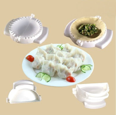 5Pcs Free Shipping Practical Home Plastic Dough Press Dumpling Pie Ravioli Making Mold Mould Maker Tool Kitchen DIY Tools(China (Mainland))