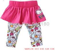 Free shipping 5pcs/lot Baby Girl Cute skirt leggings,Sweet trousers children's Cartoon Hello Kitty long pants