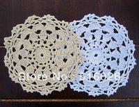 wholesale 16cm handmade Crochet cup mat, Ecru Doily ,cup pad, flower coaster,lace coasters, applique, home decoration 20PCS/LOT